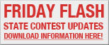 Friday Flash - State Contest Updates - Download Information Here!