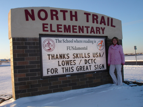 North Trail Elementary School sign